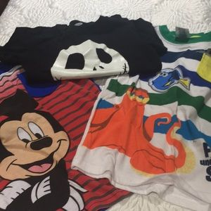 Lot of boys Disney t-shirts
